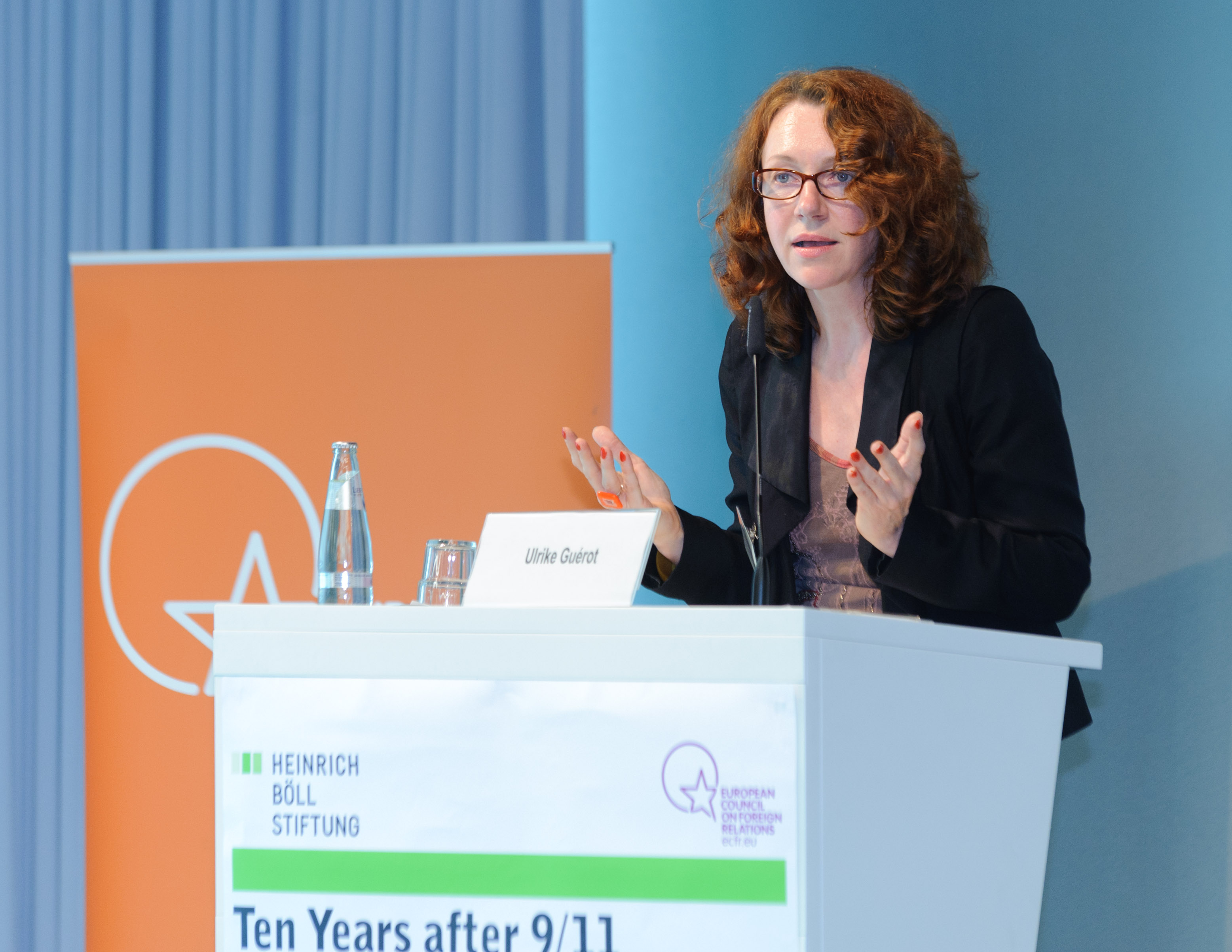 Ulrike Guérot at the Heinrich-Böll-Stiftung in 2011