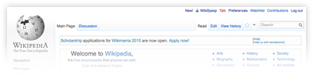 Wikipedia Beta usability navigation