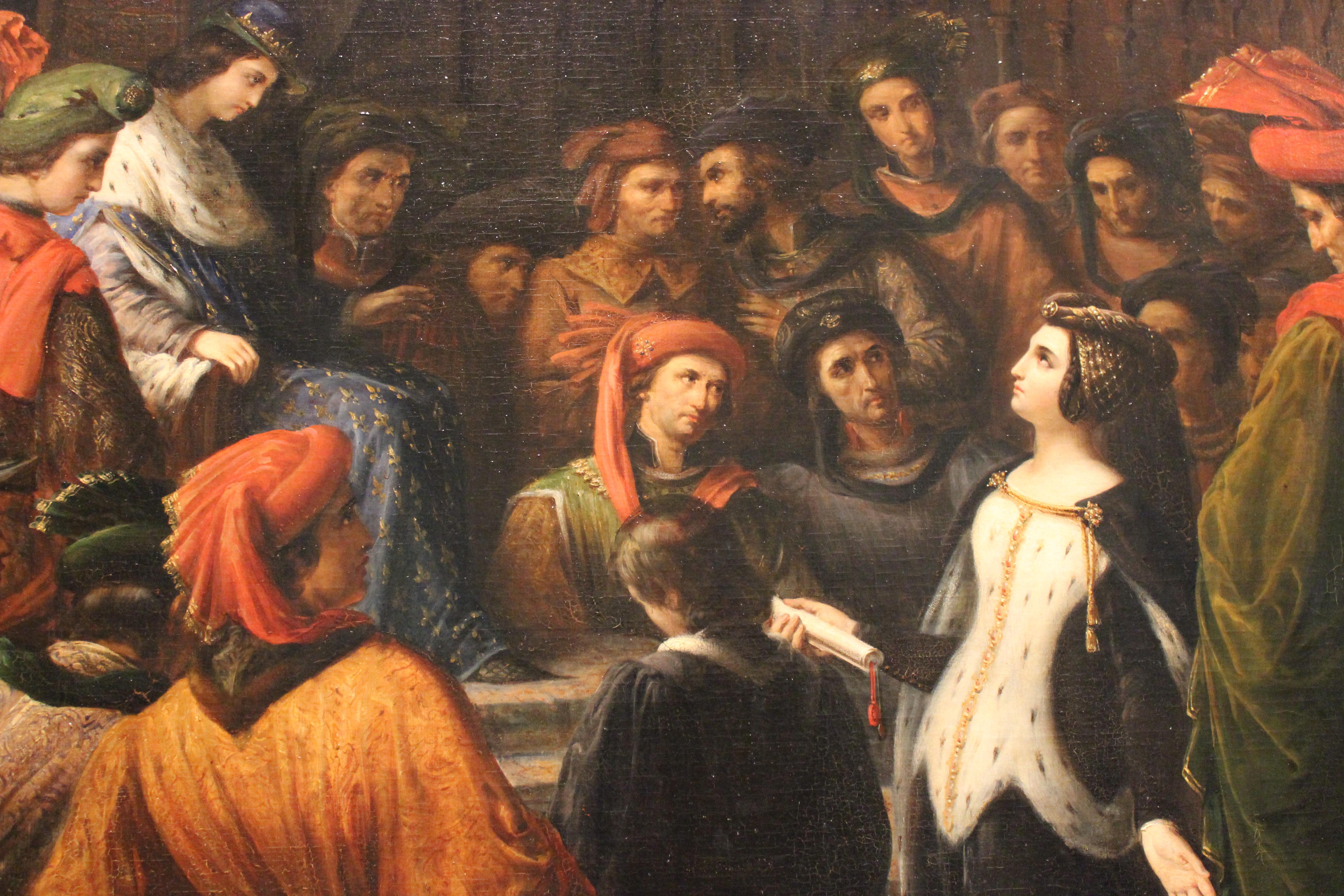 file valentine de milan implore la justice du roi charles vi pour l assassinat du duc d orleans alexandre colin mba lyon 2014 detail 7 jpg wikimedia commons
