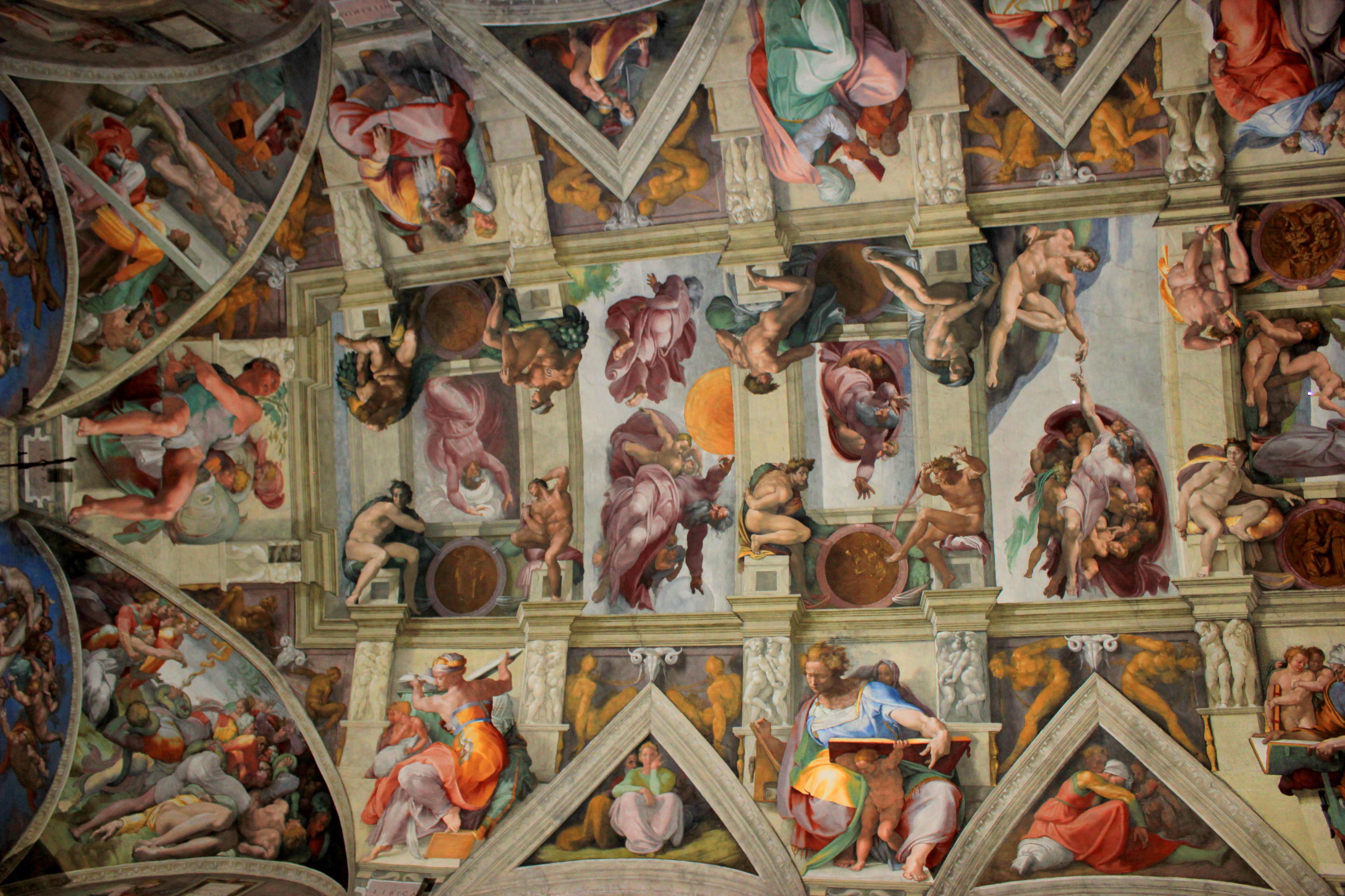 File vaticano 2011 198 jpg wikimedia commons - Plafond de la chapelle sixtine description ...