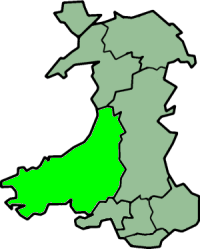 Cardigan Island is located in Dyfed, Wales