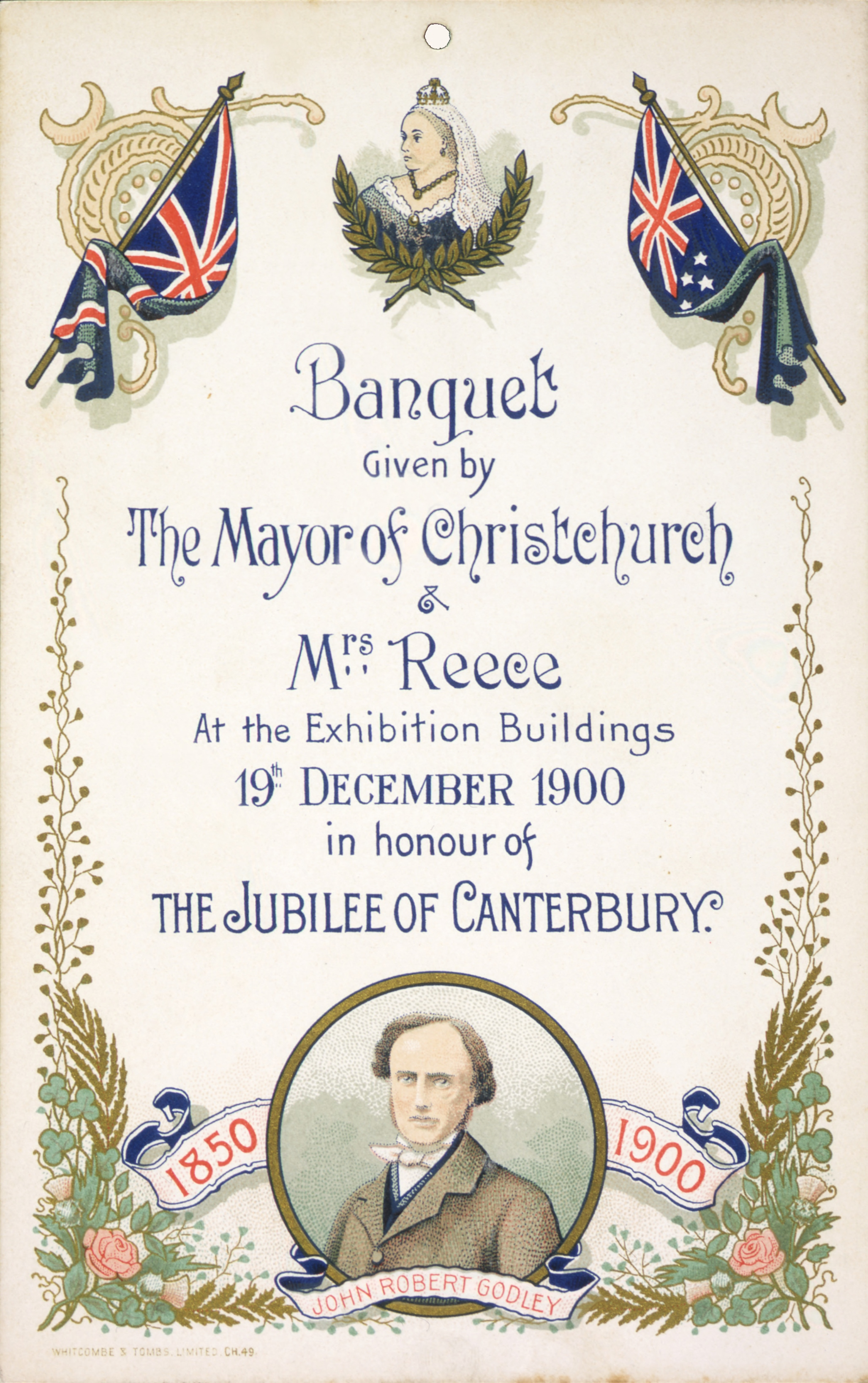File William Reece Banquet Invitation Centennial