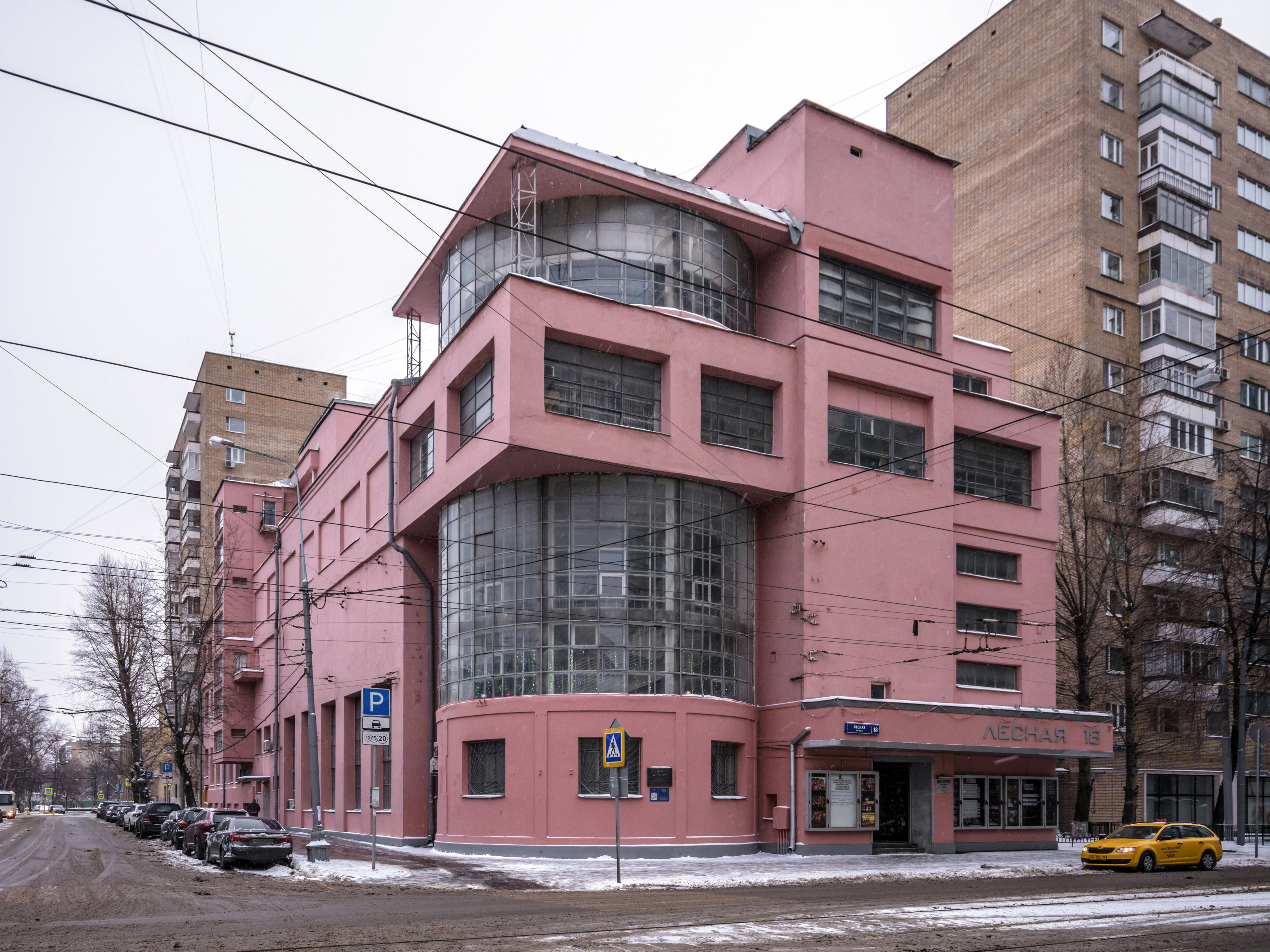 One of the finest examples of Soviet constructivist architecture - the Zuev Workers' Club, Moscow, designed by Ilya Golosov in 1926 [4500 × 3375]