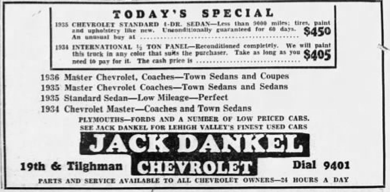 File:1936 - Jack Dankel Chevrolet - 18 Dec MC - Allentown PA