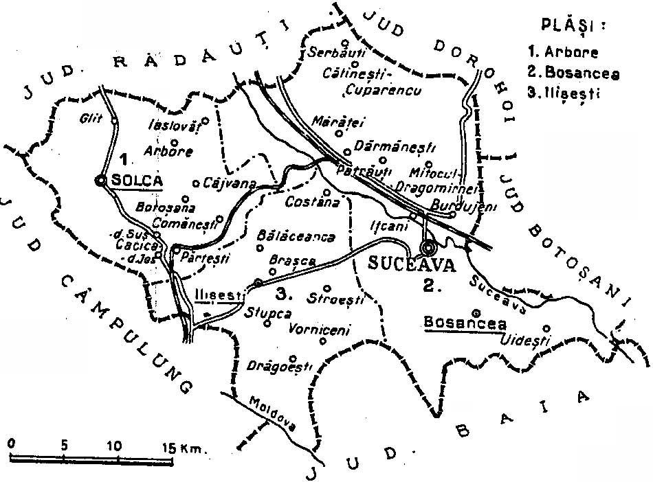 File1938 Map Of Interwar County Suceava