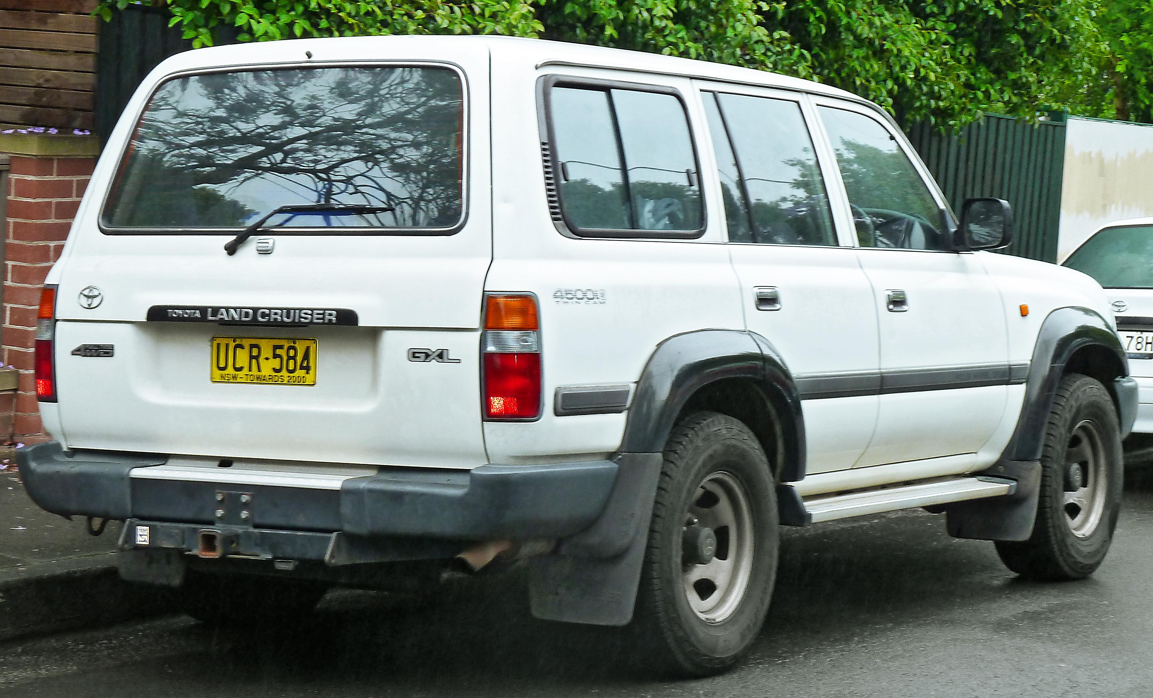 File 1995 1998 Toyota Land Cruiser Fzj80r Gxl Wagon 2011 11 17 02 Jpg Wikimedia Commons
