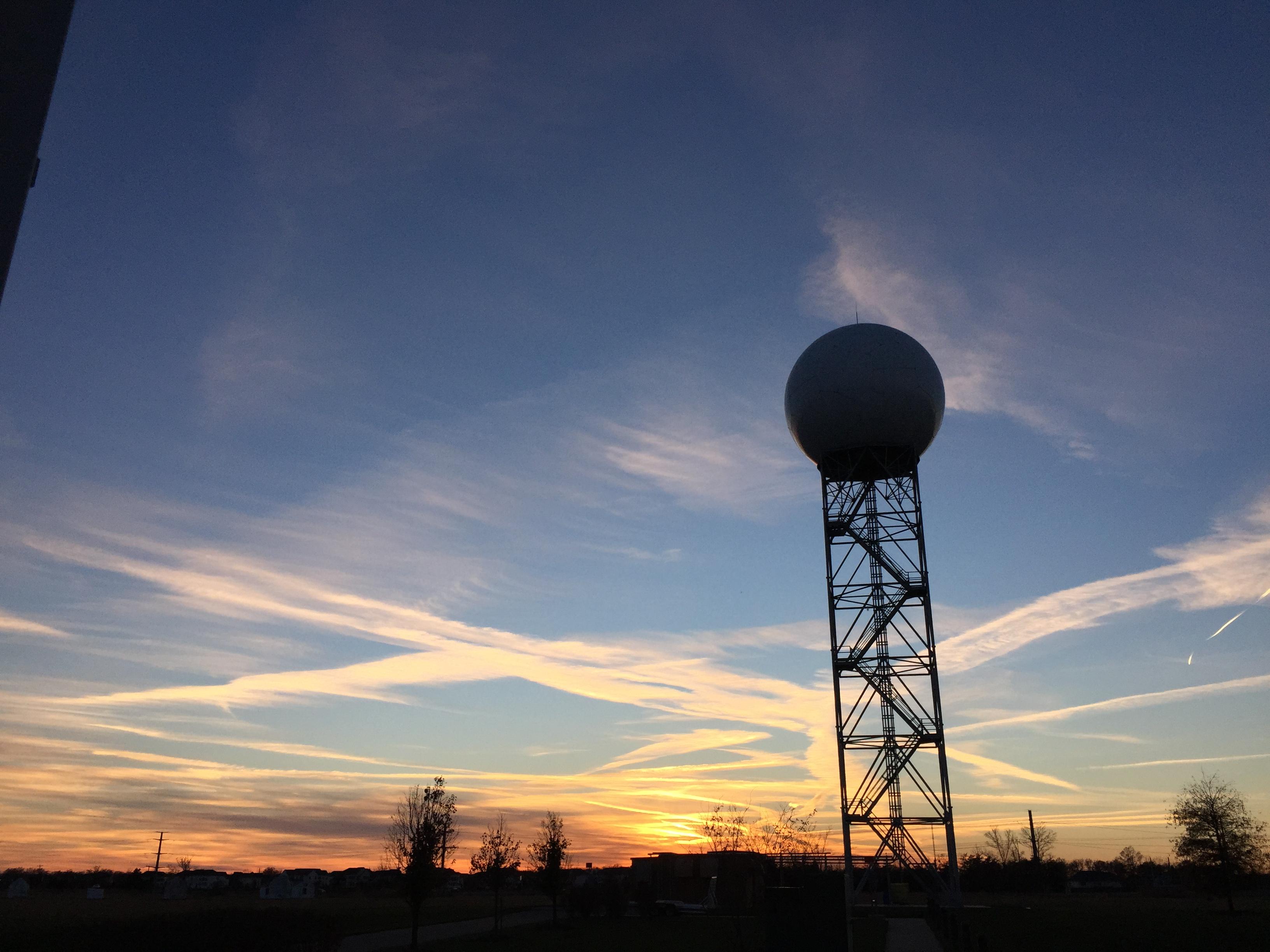 File:2015-11-21 16 49 01 Sunset at the NEXRAD WSR-88D Doppler Radar