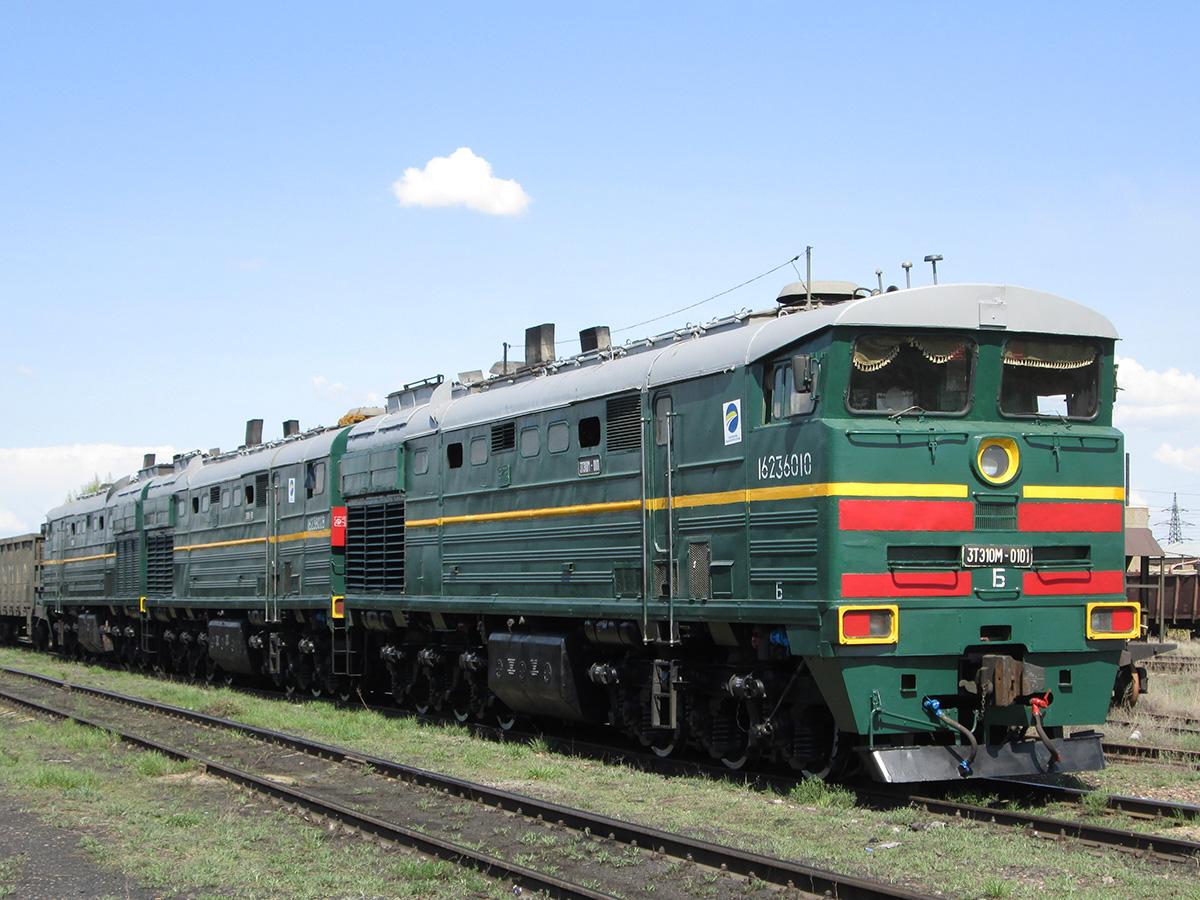 3ТЭ10М-0101, Казахстан, Карагандинская область, станция Распорядительная (Trainpix 131442).jpg