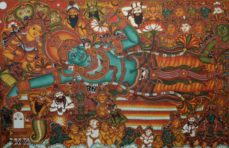 File ananthasayanam png wikimedia commons for Ananthasayanam mural painting