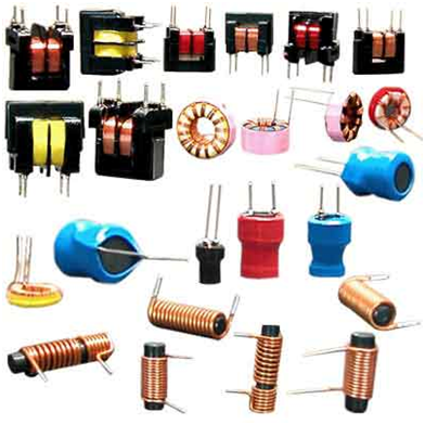 A variety of types of ferrite core inductors and transformers Aplikimi i feriteve.png