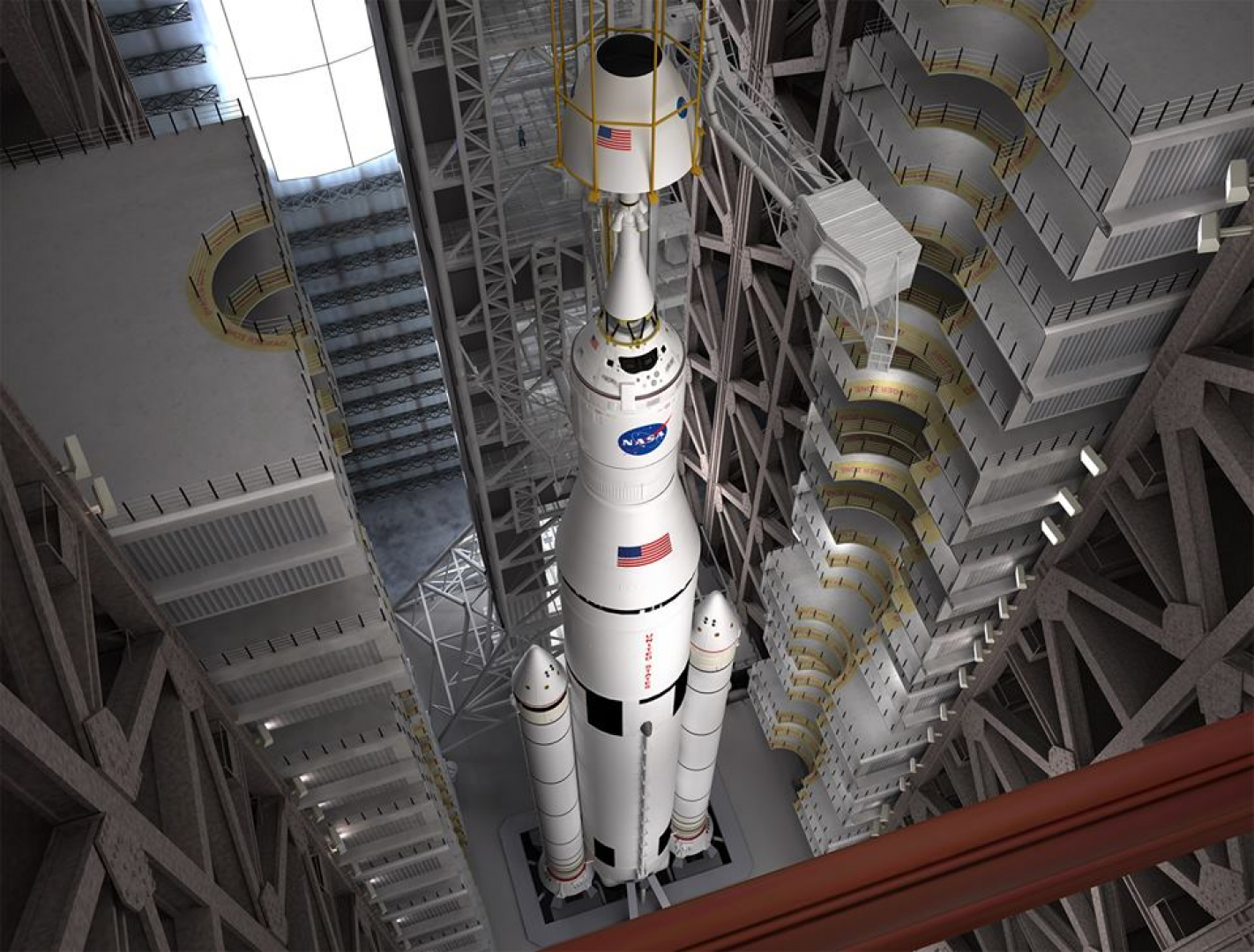 File:Artist Concept - Space Launch System and Orion ...
