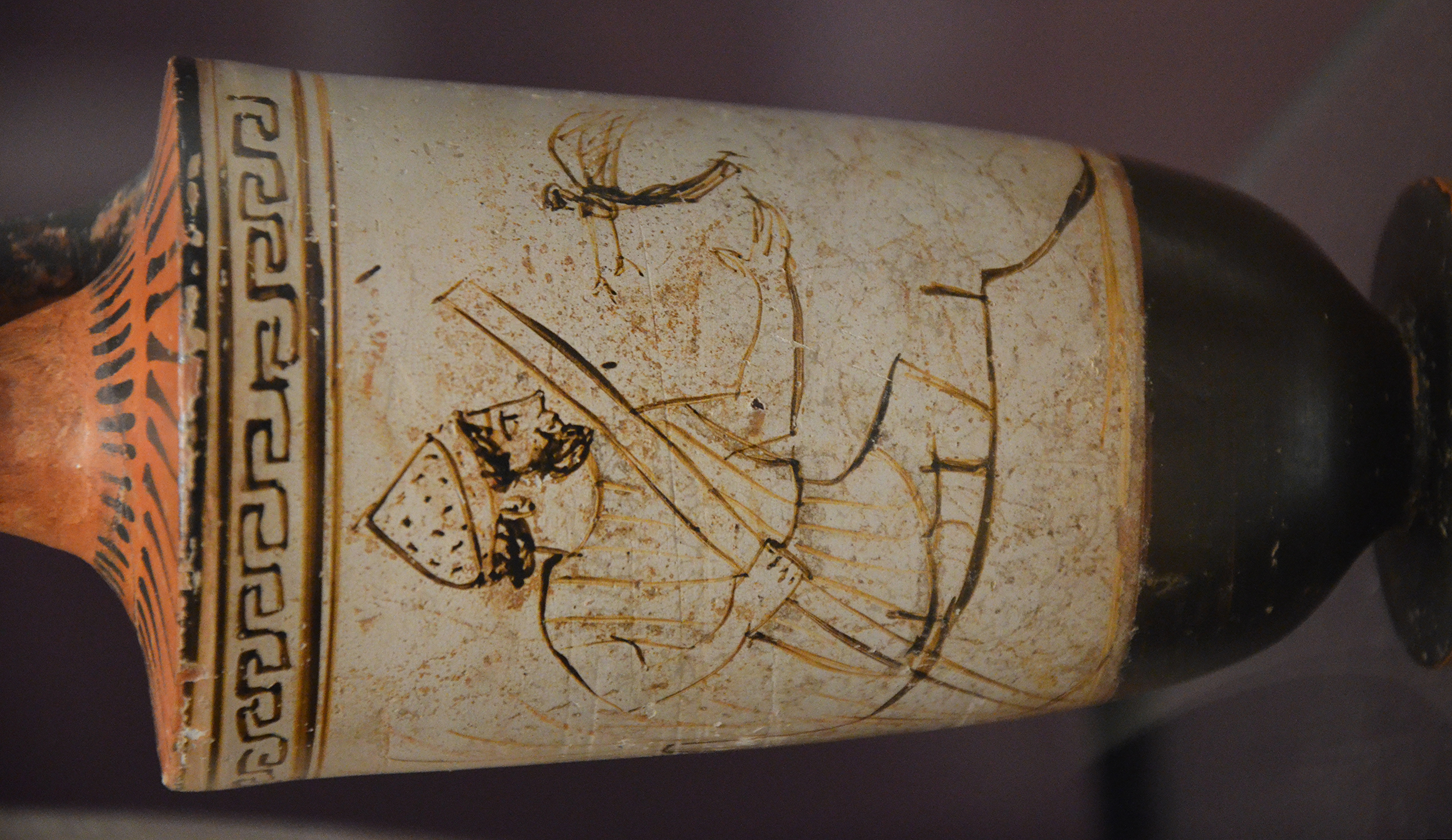 Attic Red Figure (White Ground) Lekythos with Charon, attributed to the Tymbos painter, ca 500 - 450 BC, Ashmolean Museum, Oxford, UK (22681344331).jpg