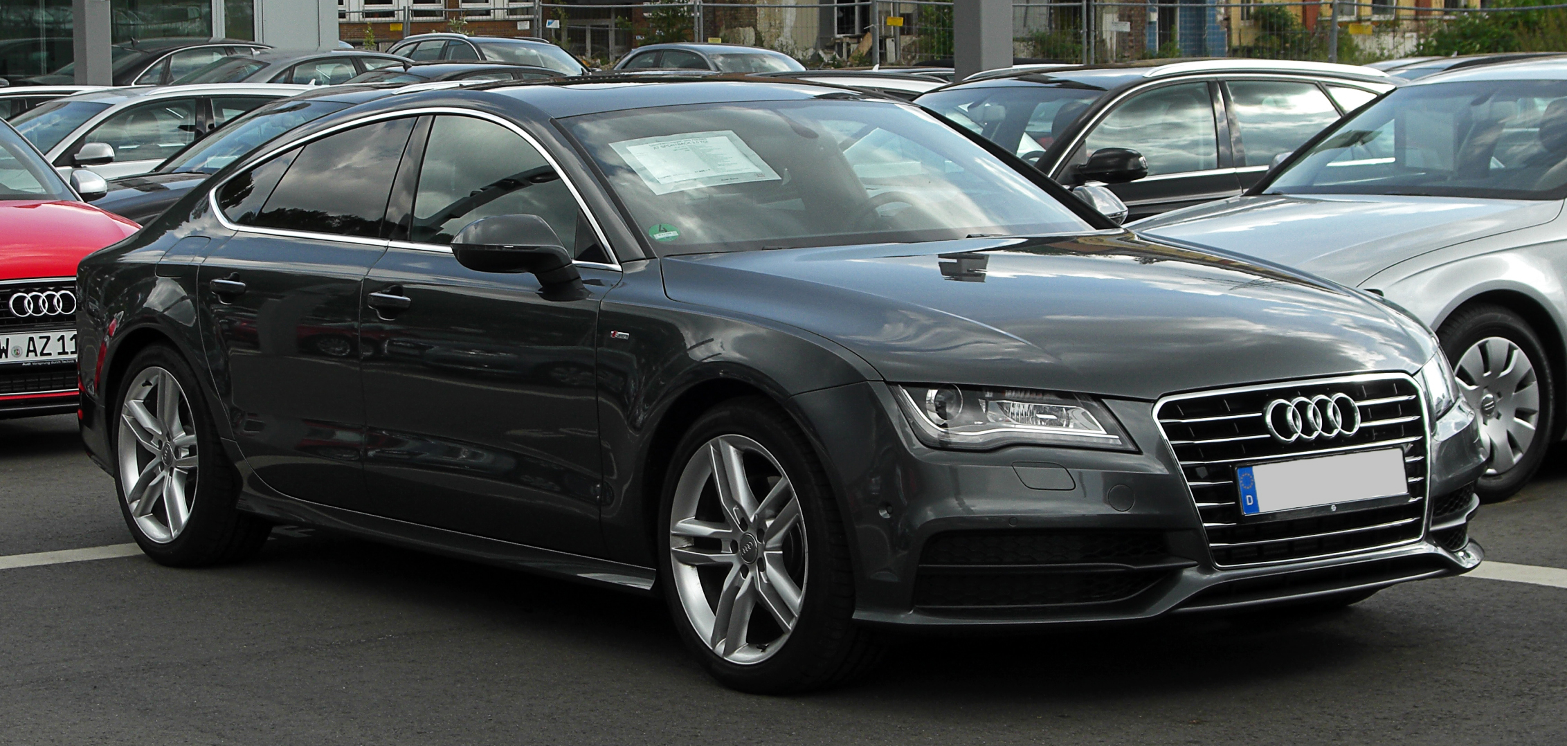 file audi a7 sportback 3 0 tdi quattro s line frontansicht 15 mai 2011. Black Bedroom Furniture Sets. Home Design Ideas