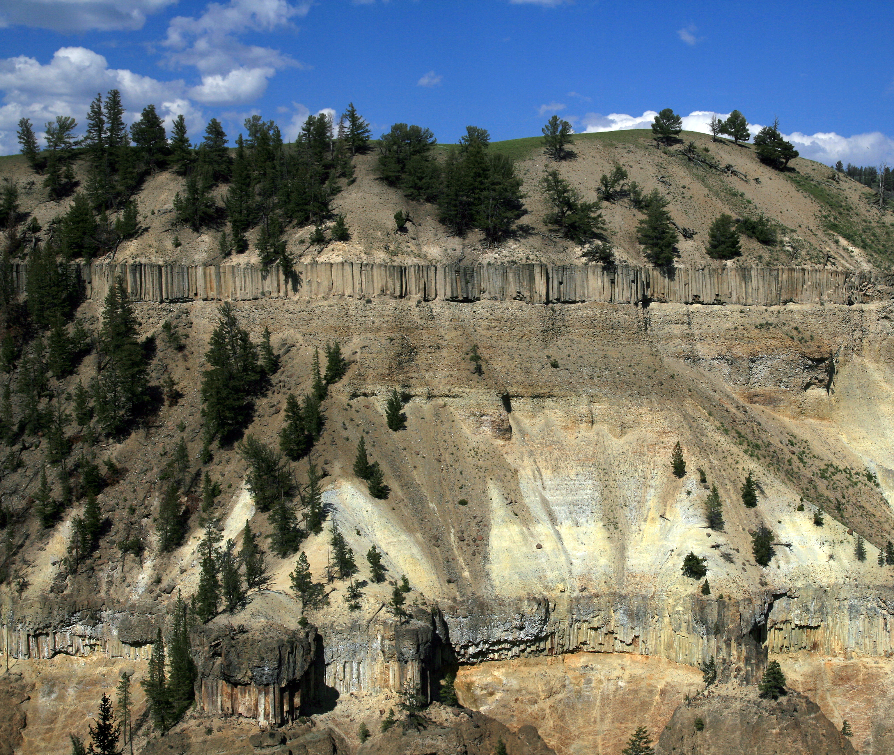 Description Of Basalt : File basalt columns in yellowstone g wikimedia commons