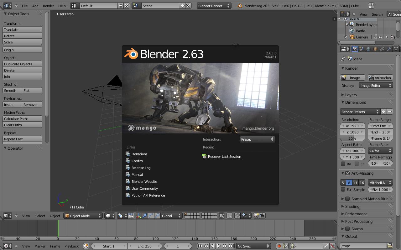 blender 2.63 pour mac