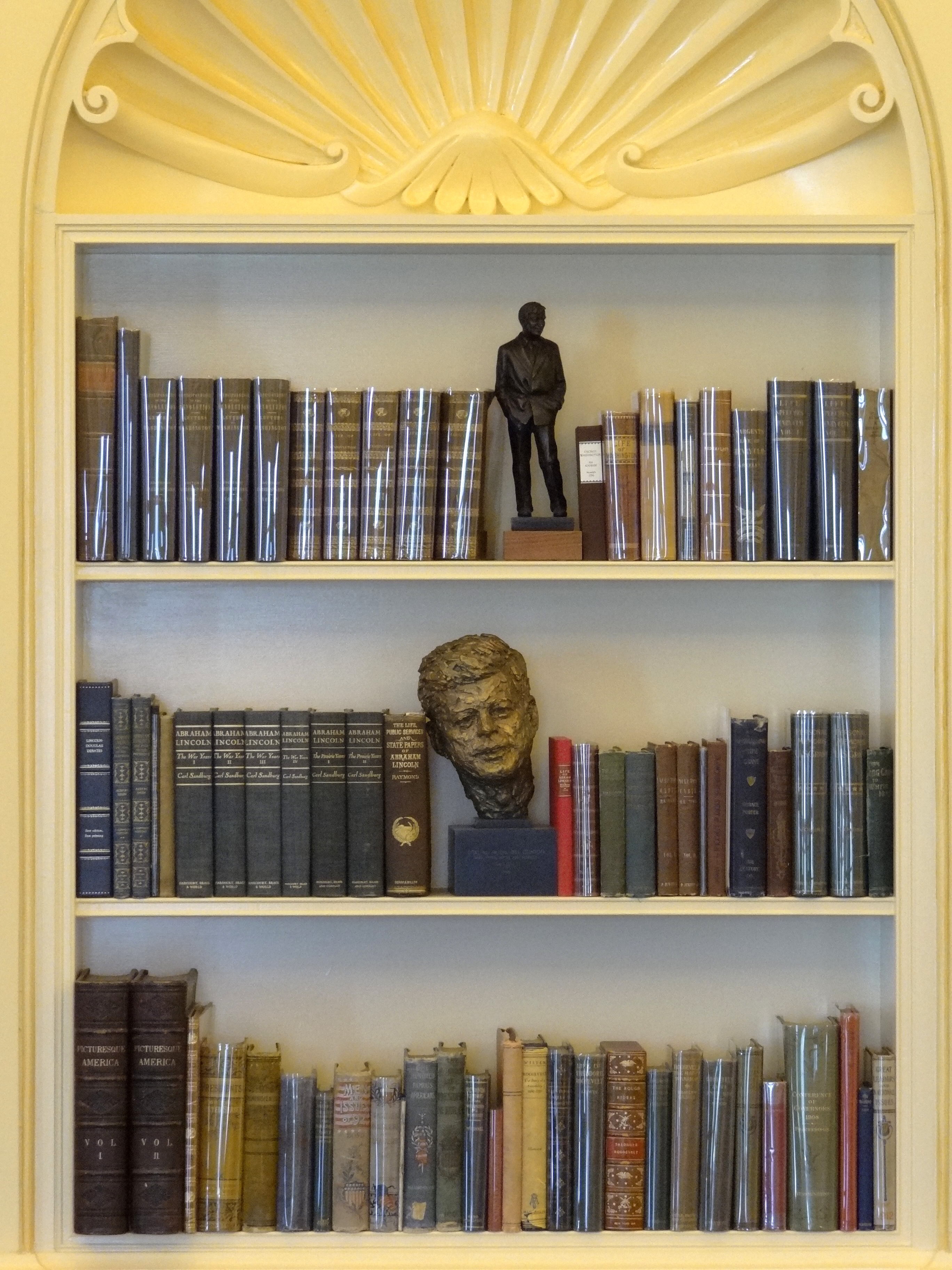 FileBookcase in Recreation of Oval Office Clinton Presidential