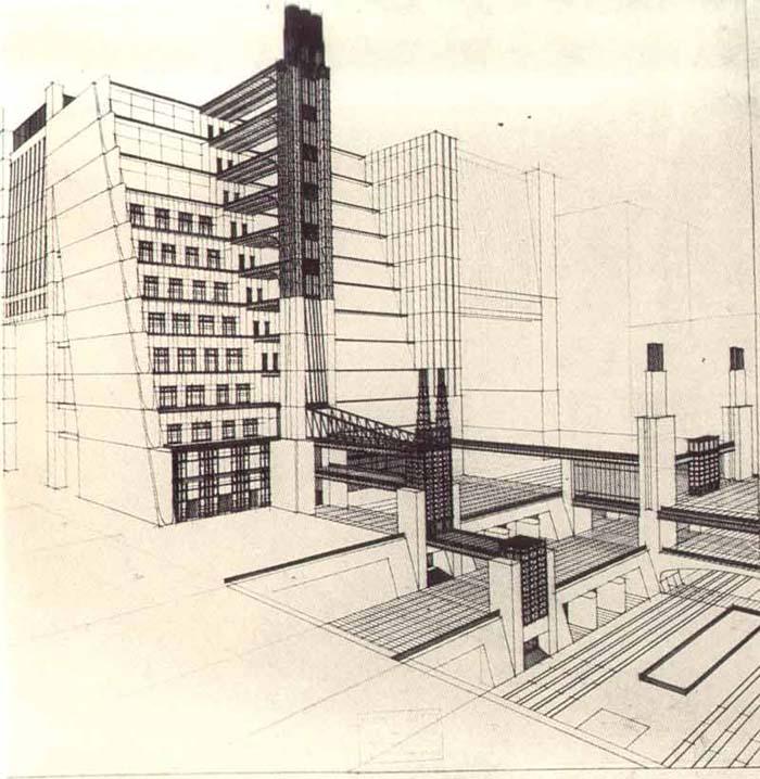 file casa a gradinata con ascensori dai quattro piani