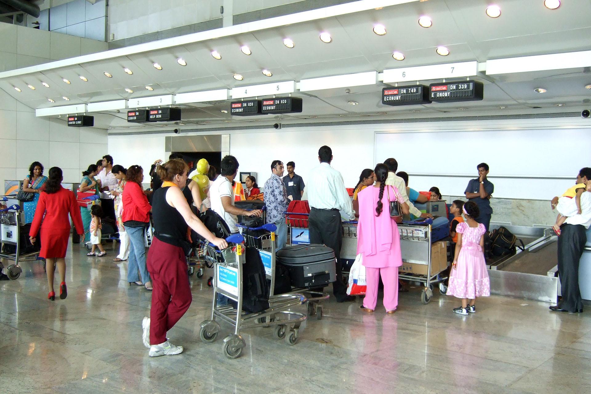 File Check In Counter At Mumbai International Airport T1