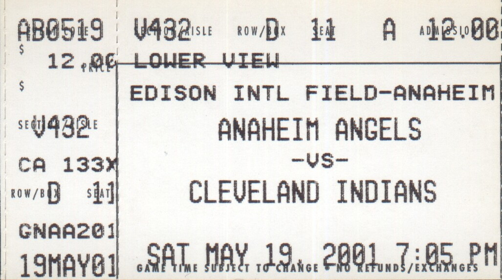 image about Cleveland Indians Printable Schedule called 2001 Cleveland Indians time - Wikipedia