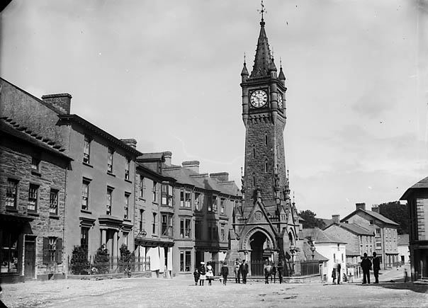 Machynlleth Clock Tower - of old