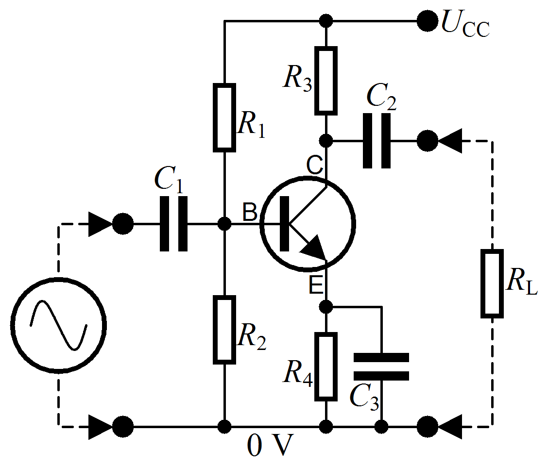 how to calculate bjt npn transistor using beta
