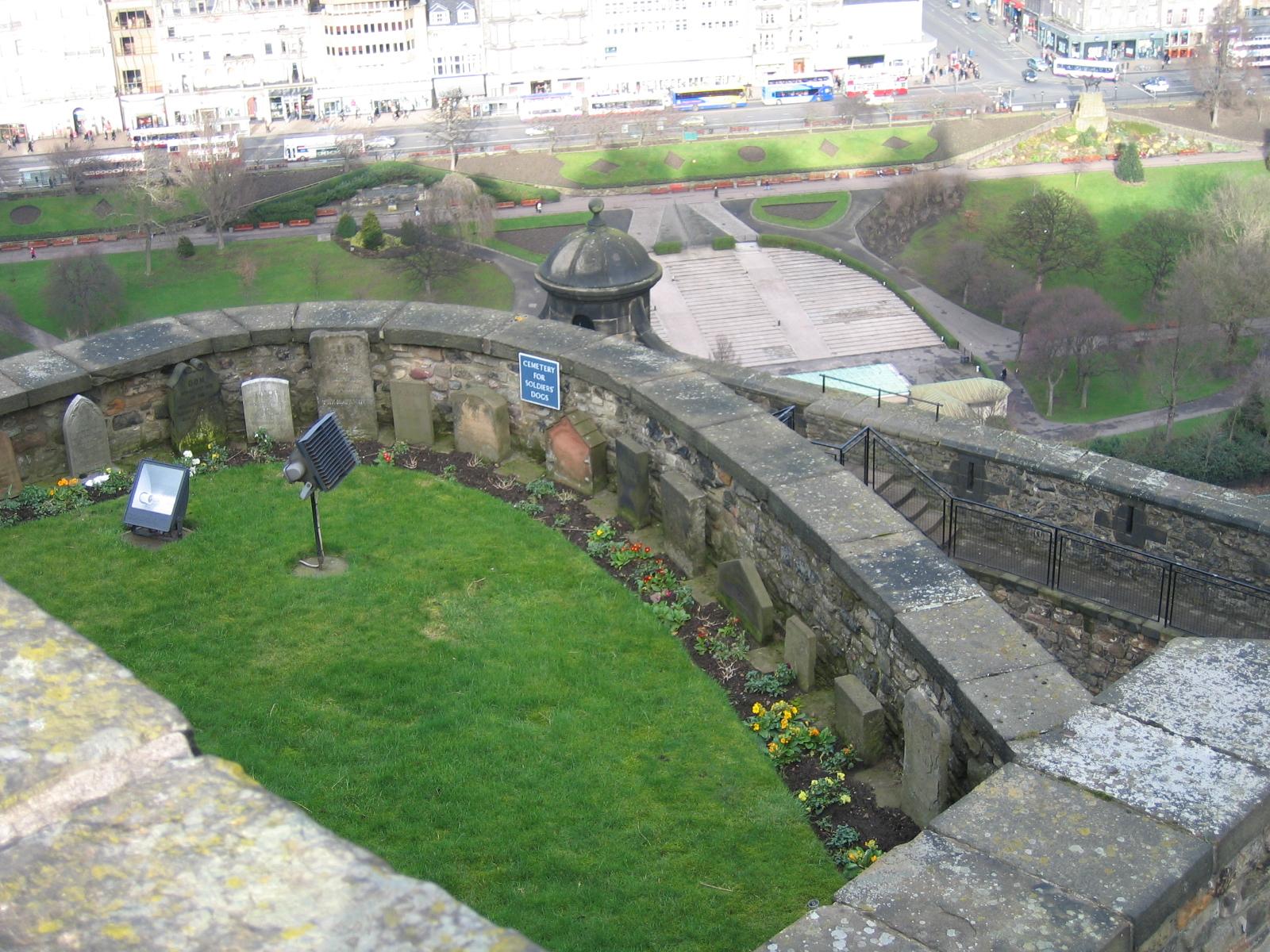 Soldiers' dog cemetery at Edinburgh Castle