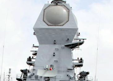 File:ELM 2248 MF-STAR radar onboard INS Kolkata (D63) of the Indian Navy.png