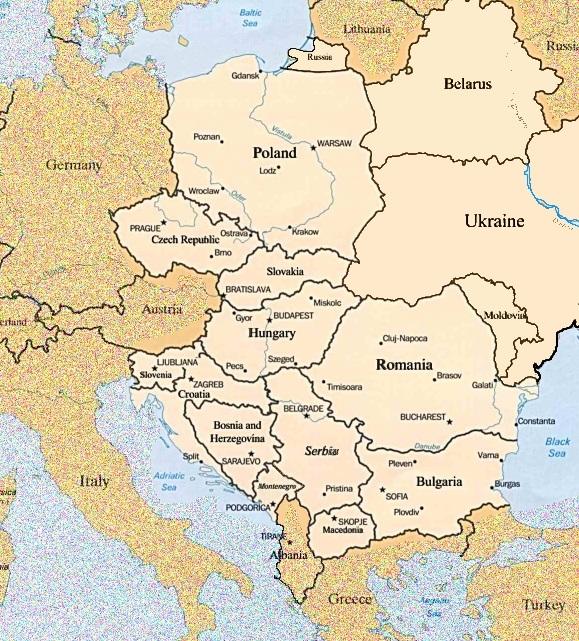 map of eastern europe. map eastern europe