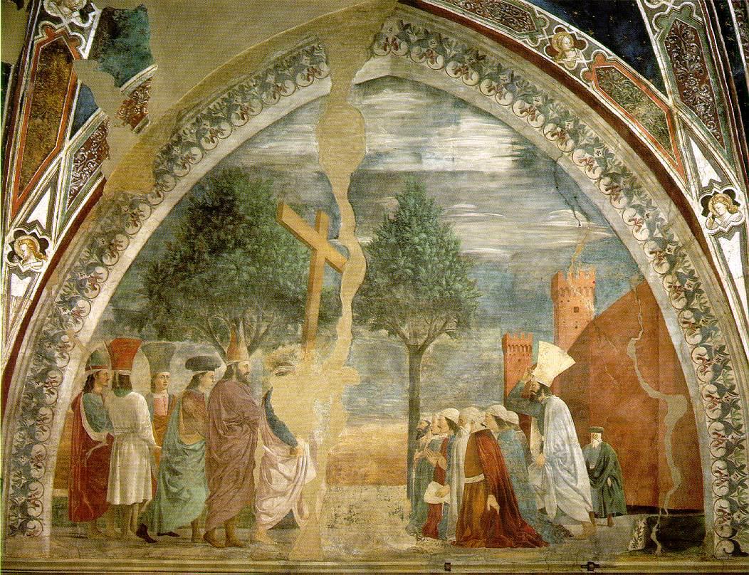 Lu0027Esaltazione della Croce di Piero della Francesca.