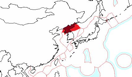 The exclusive economic zone of North Korea Exclusive economic zone of North Korea.png