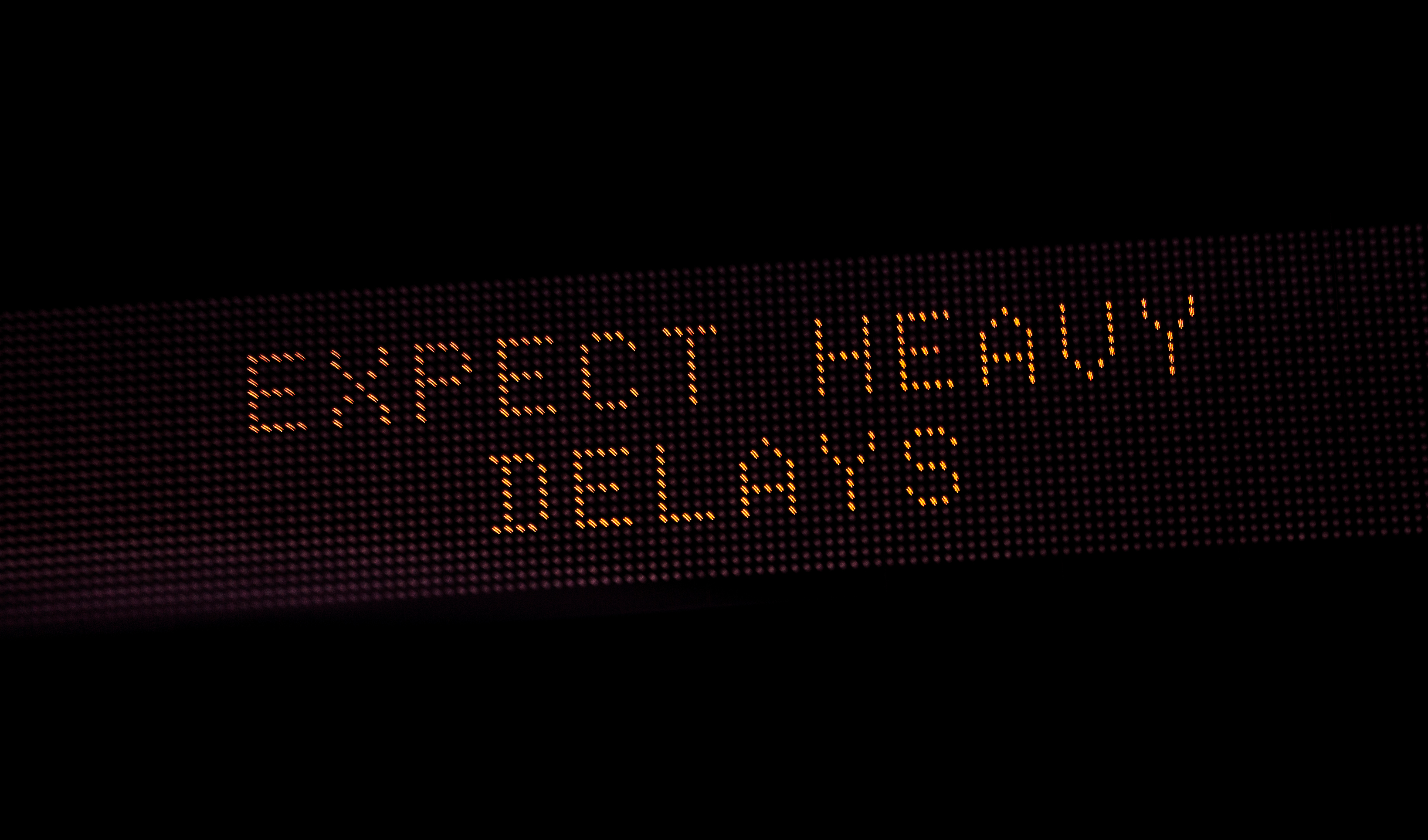 Expected Delays |Electronic Highway Signs Expect Delays
