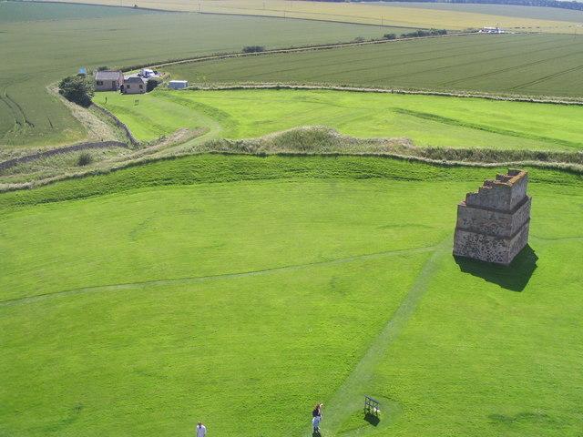 Fairy rings at Tantallon - geograph.org.uk - 492140