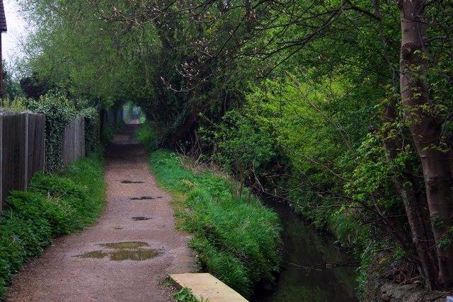 File:Footpath alongside Boundary Brook - geograph.org.uk - 1254885.jpg