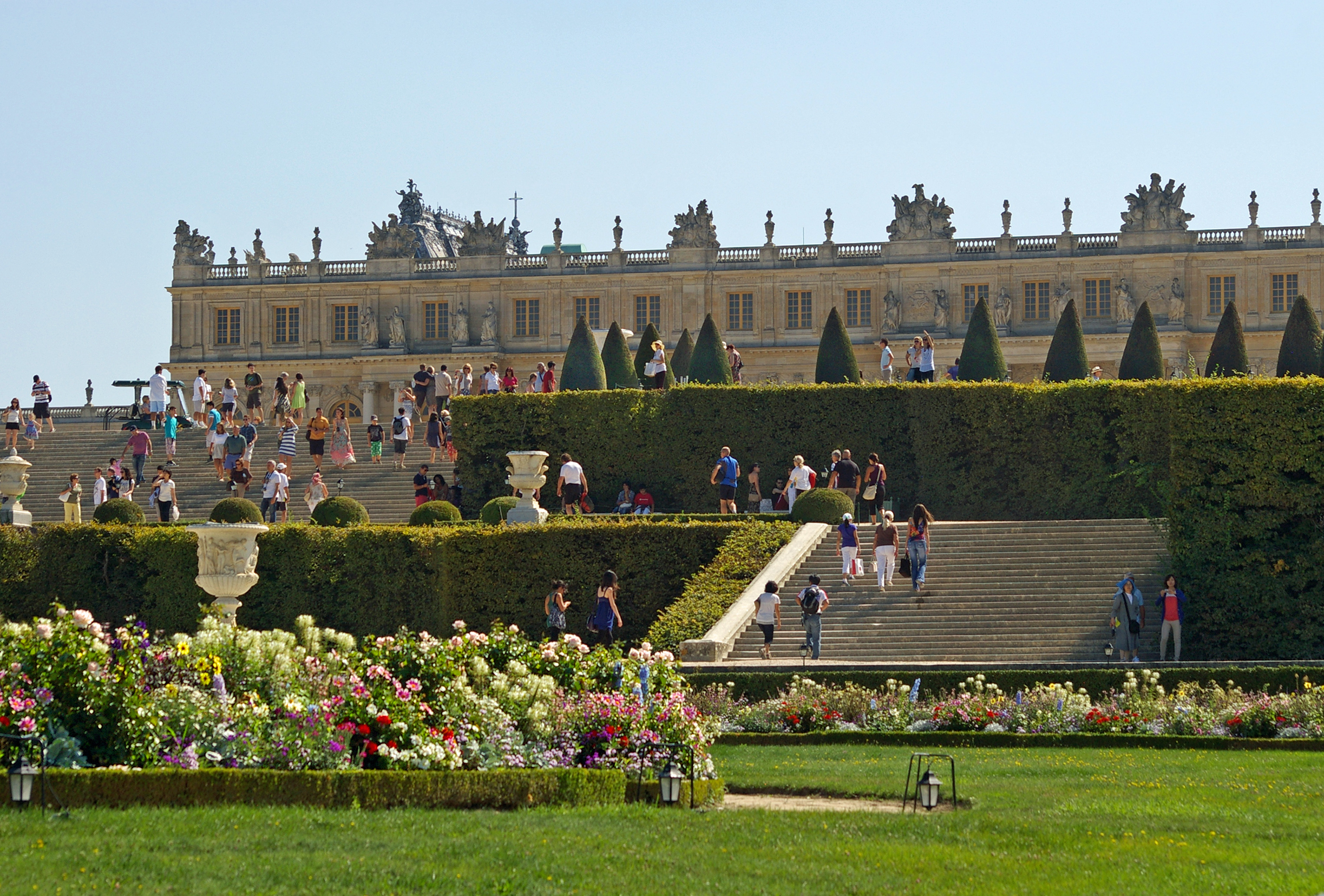 File Garden Facade Of The Palace Of Versailles Wikimedia Commons