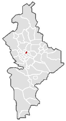 Vị trí của đô thị trong bang Nuevo León