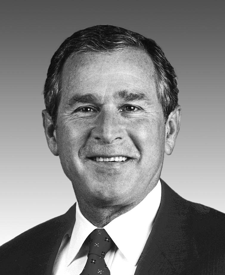 George W Bush Black And White Photo