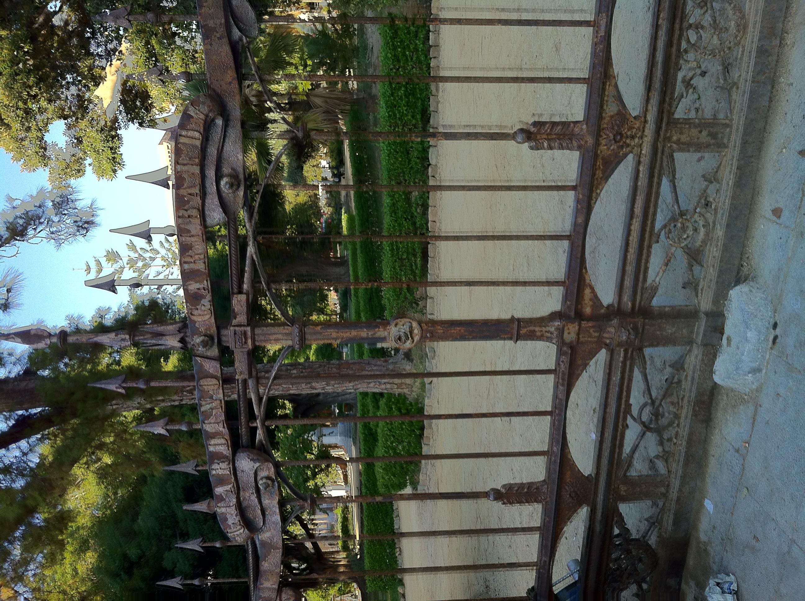 file giardino garibaldi palermo italia cancello d