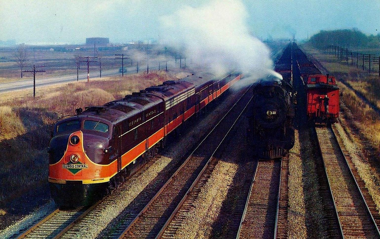 Railroad trains in texas