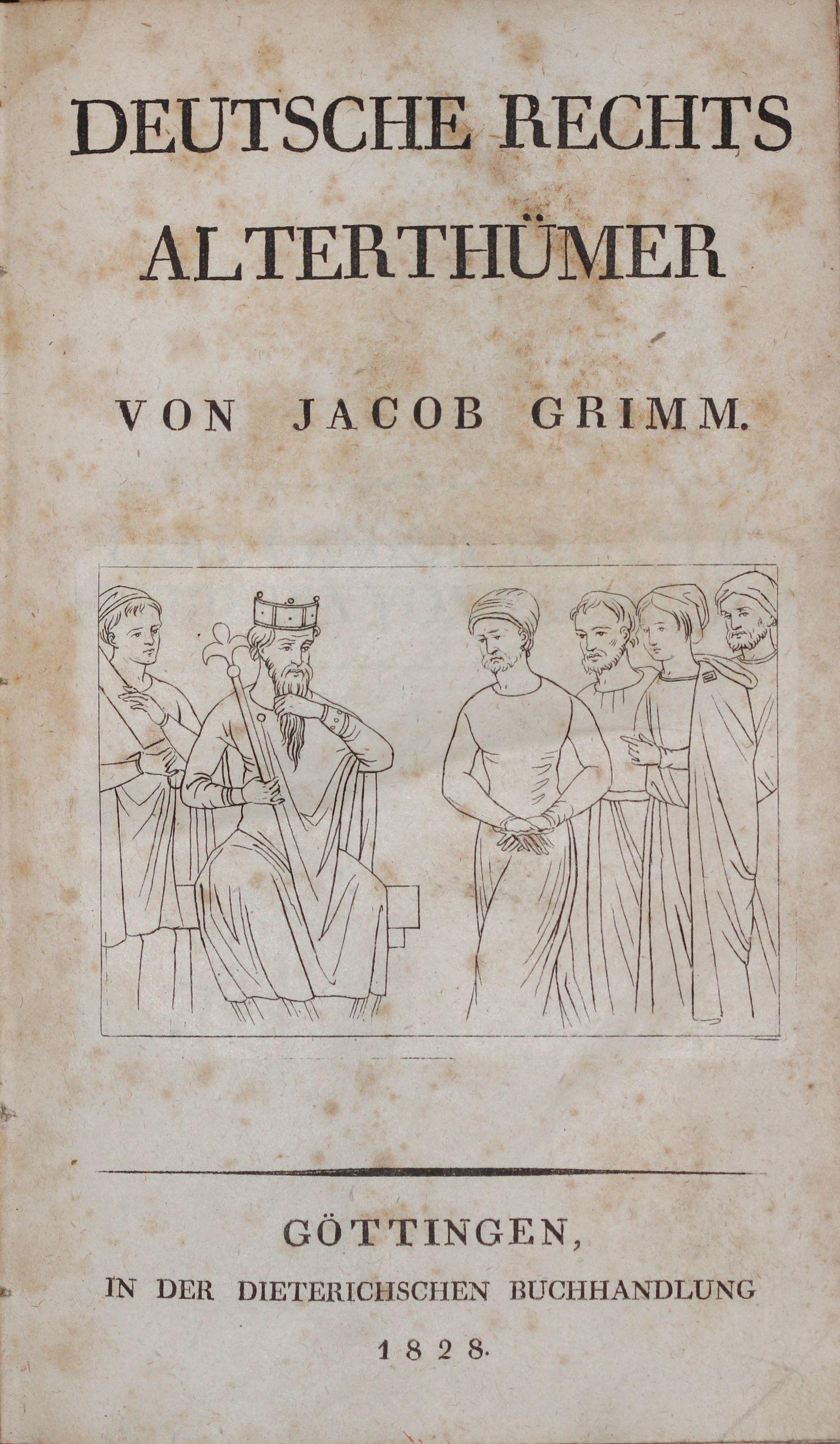 File:Jacob Grimm Deutsche Rechtsalterthümer 1828 Titel.jpg