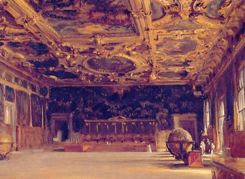 John Singer Sargent - Interior of Dodge's Palace