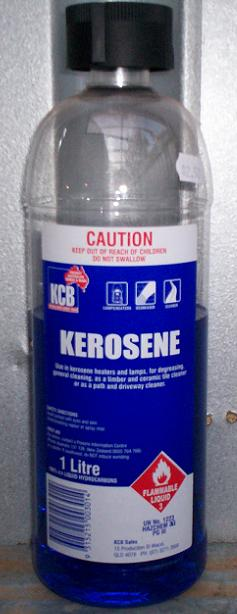 Kerosene, Photograph taken by myself, Septembe...