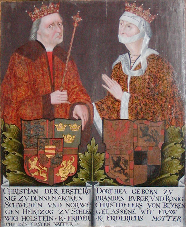 Christian I en Dorothea