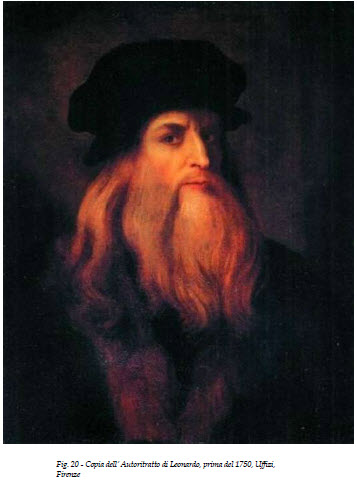 Leonardo da Vinci LUCAN Hohenstatt 20 Uffizi copy