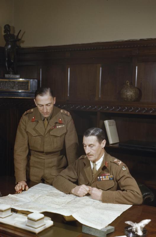 Lt General Scobie in Athens WWII IWM TR 2724.jpg