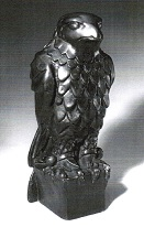 Maltese Falcon film prop created by Fred Sexton for John Huston