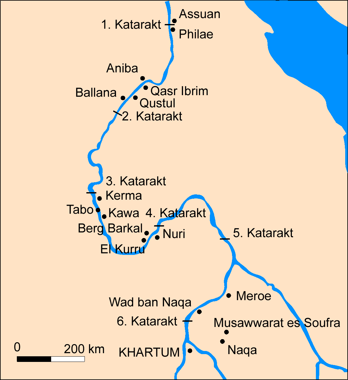 FileMap Nubia Germanpng Wikimedia Commons - Map of egypt nubia