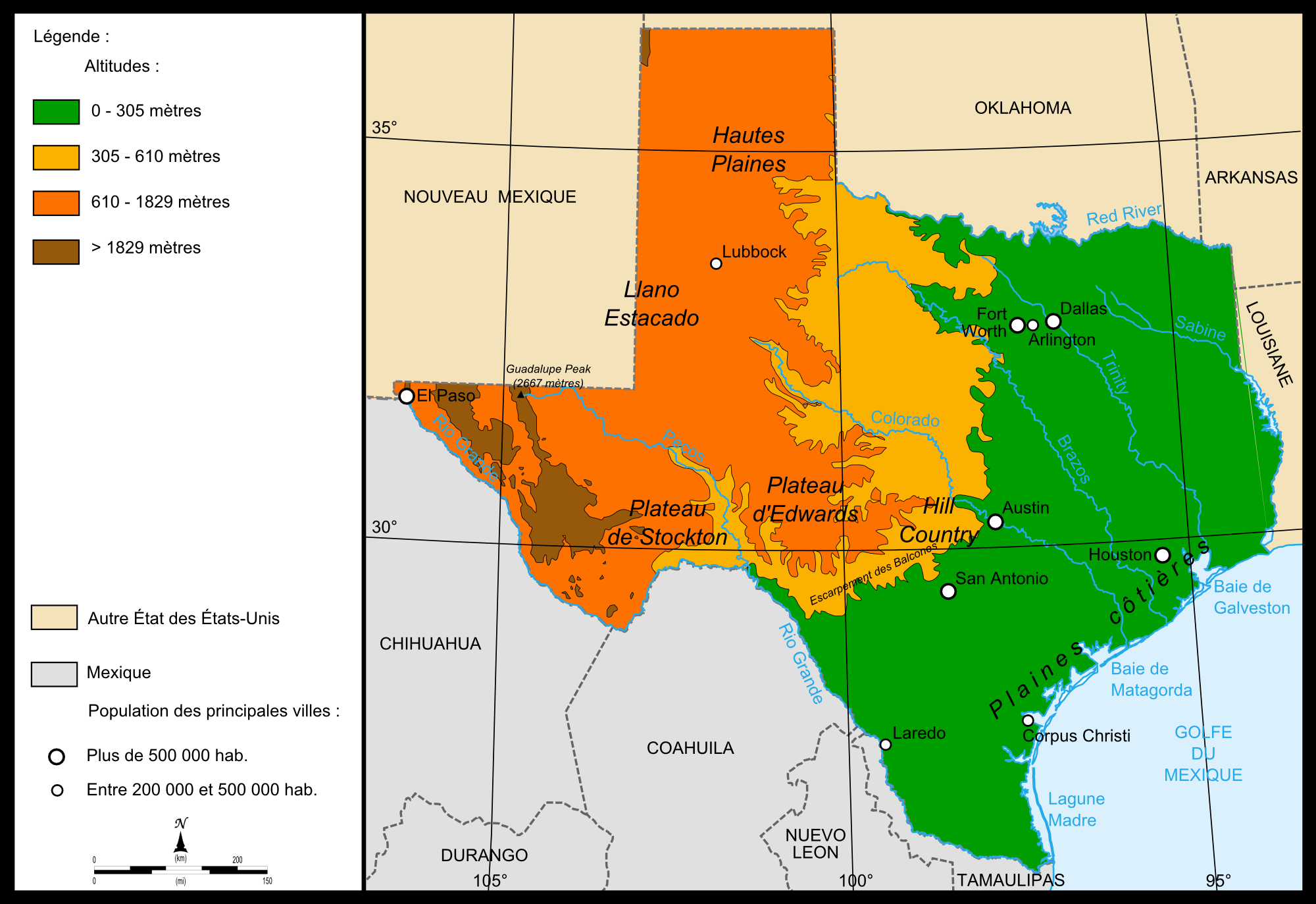 Relief Map Of Texas.File Map Relief Texas Png Wikimedia Commons