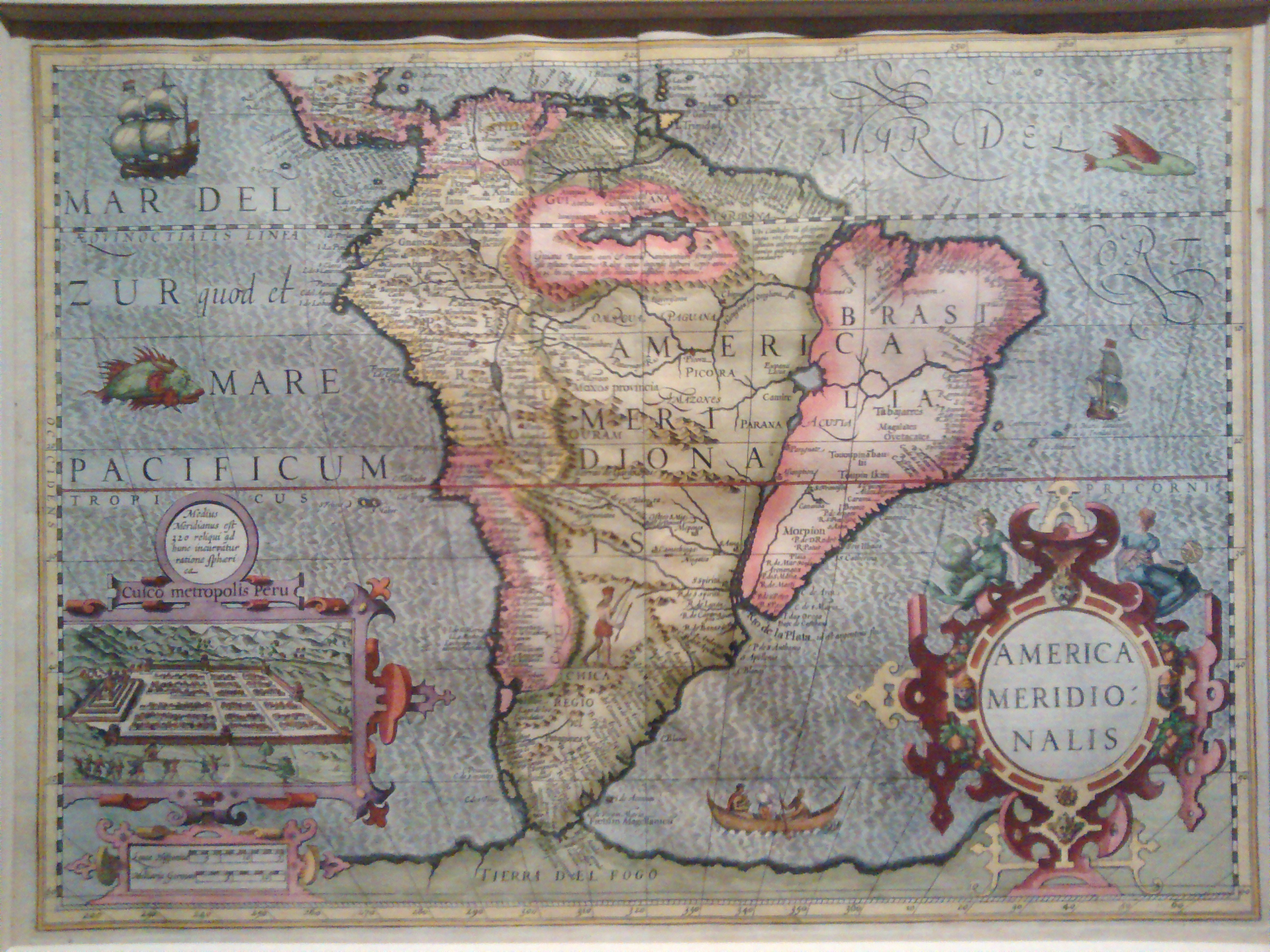 Map of South America (historic)