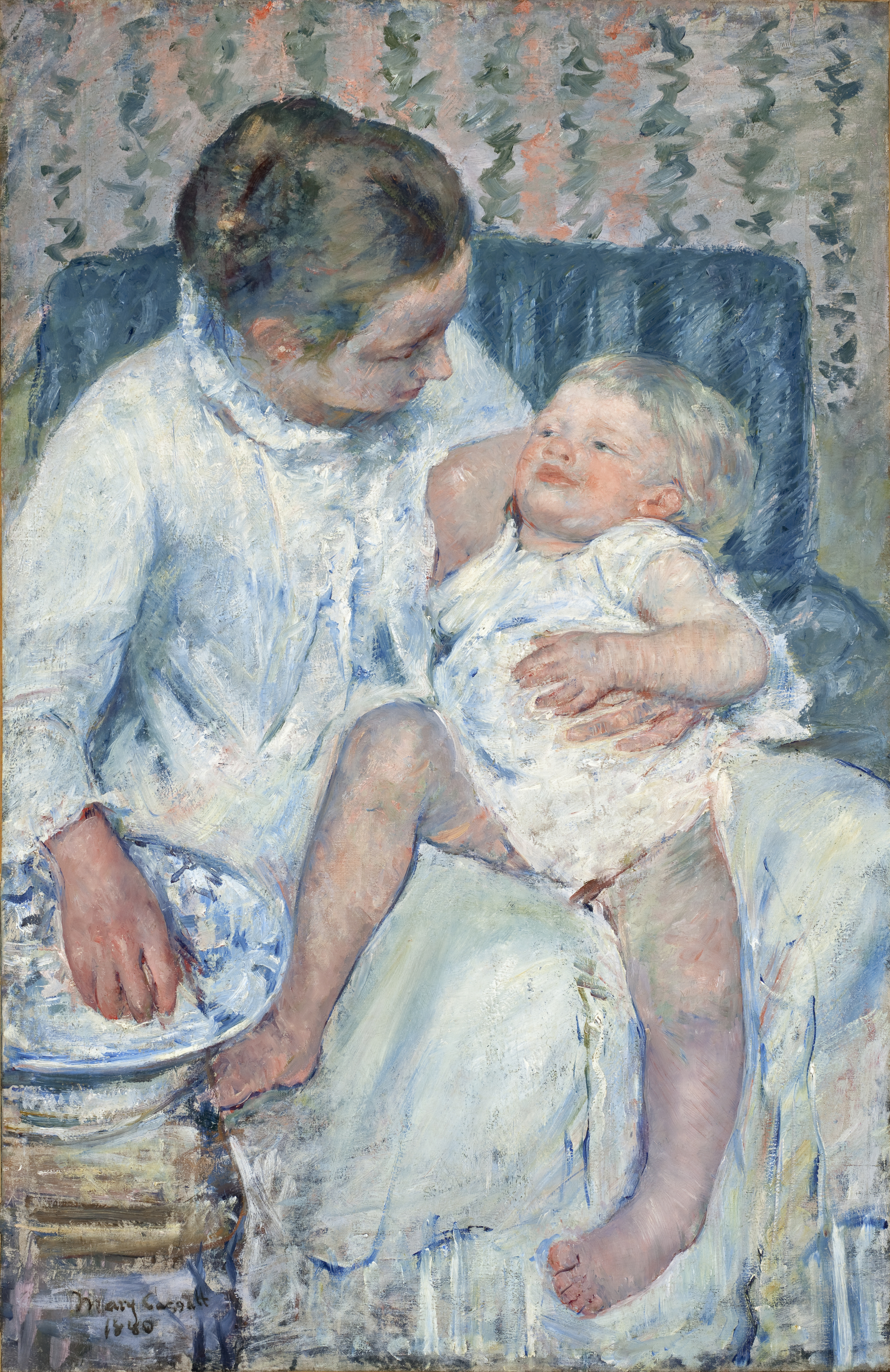 File:Mary Cassatt - Mother About to Wash Her Sleepy Child - Google ...