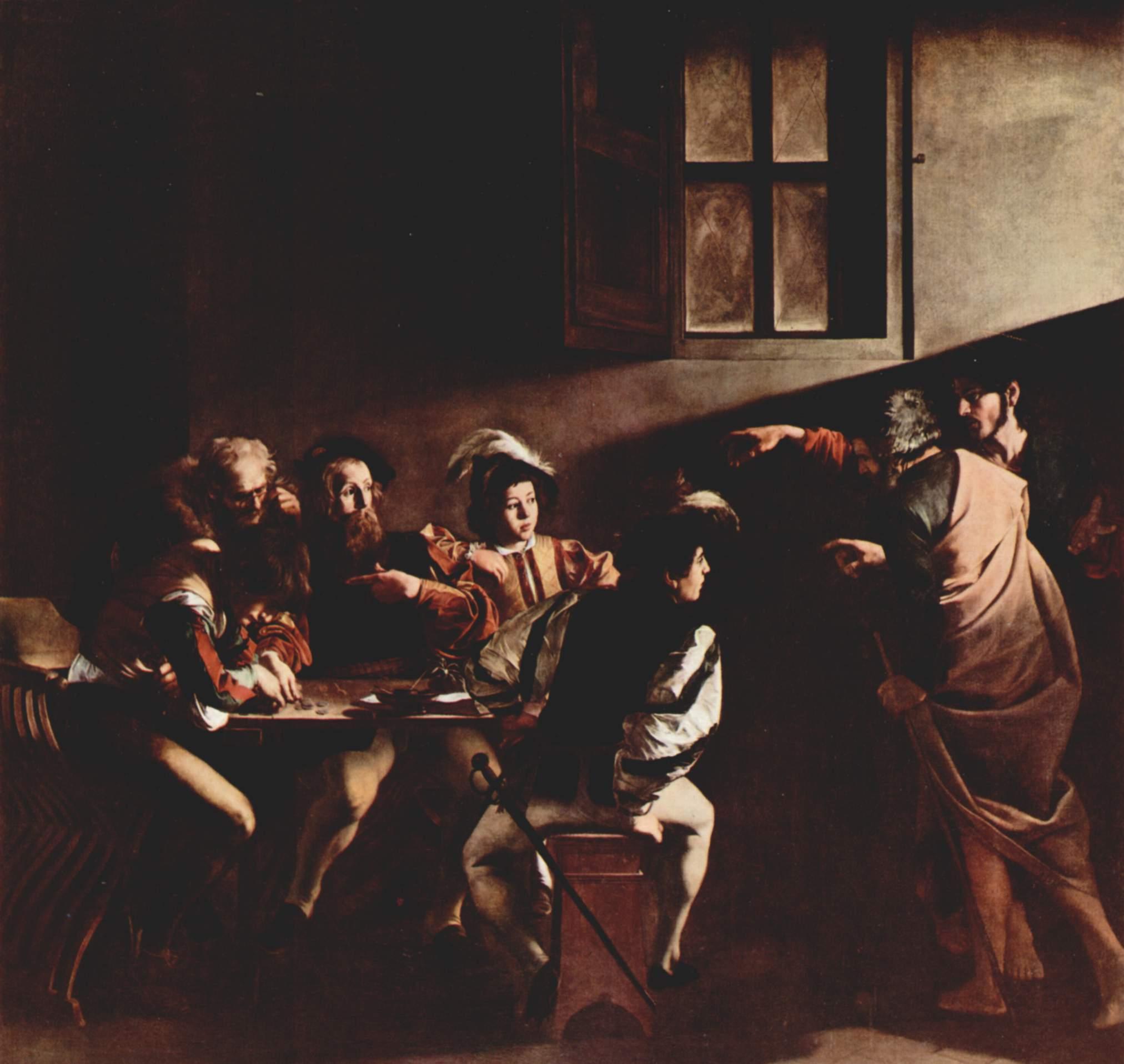 「聖マタイの召命 カラヴァッジョ」の画像検索結果